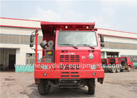 50 ton 6x4 dump truck / tipper dump truck with 14.00R25 tyre for congo mining area