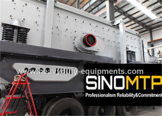 Two - Spindle Body Stone Crusher Machine , Mobile Cone Crusher 6-75 mm Feeding