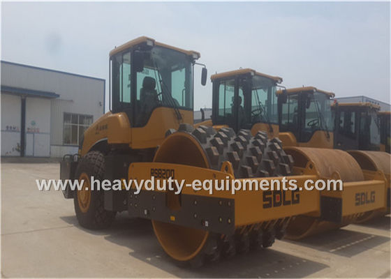 Çin 20Tons Steel Single Drum Road Roller Road Construction Equipment With Padfoot Movable Fabrika