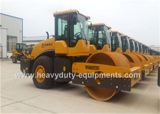 Çin SDLG RS8200 Road Construction Equipment Single Drum Vibratory Road Roller 20tons Deutz Engine Fabrika
