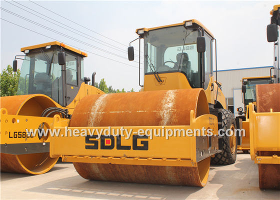 Çin SDLG RS8140 Road Construction Equipment Single Drum Vibratory Road Roller 14Ton Fabrika