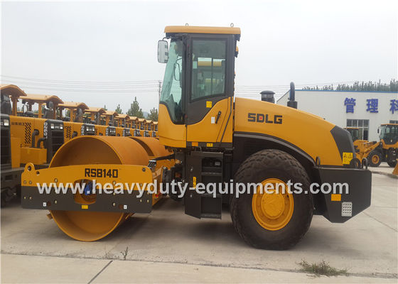 Çin SDLG RS8140 14 Ton Single Drum Road Roller 30Hz Frequency With Weichai Engine Fabrika