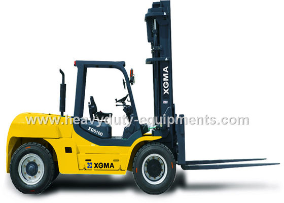 Çin Counter Balance Forklift 10 Ton Capacity Steering Axle Simplicity Maintenance Fabrika