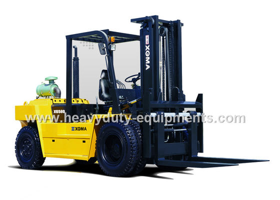 Çin 8000Kg Forklift Loading Truck Hydraulic System Control With Solid Steel Gantry Fork Fabrika