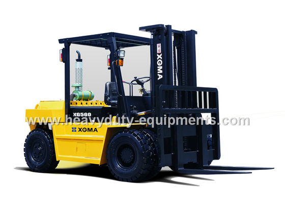 Çin Air Over Oil Brakes Industrial Forklift Truck 2230mm Wheelbase 6000Kg Rated Loading Fabrika