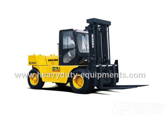 Çin 230g / kw.h Engine Fuel Industrial Forklift Truck With Gearbox / Torque Converter Fabrika