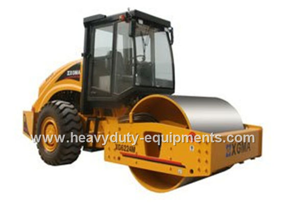 506N / cm Road Construction Equipment Road Roller Machine Hydraulic Vibration