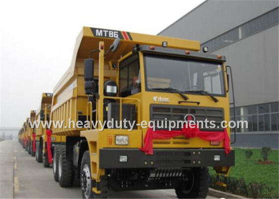 Çin Rated load 60 tons Off road Mining Dump Truck Tipper  309kW engine power with 34m3 body cargo Volume Fabrika