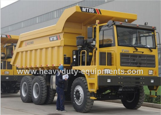 Çin Rated load 55 tons Off road Mining Dump Truck Tipper  309kW engine power with 30m3 body cargo Volume Fabrika